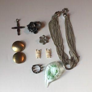 Lot of ten pieces costume jewelry